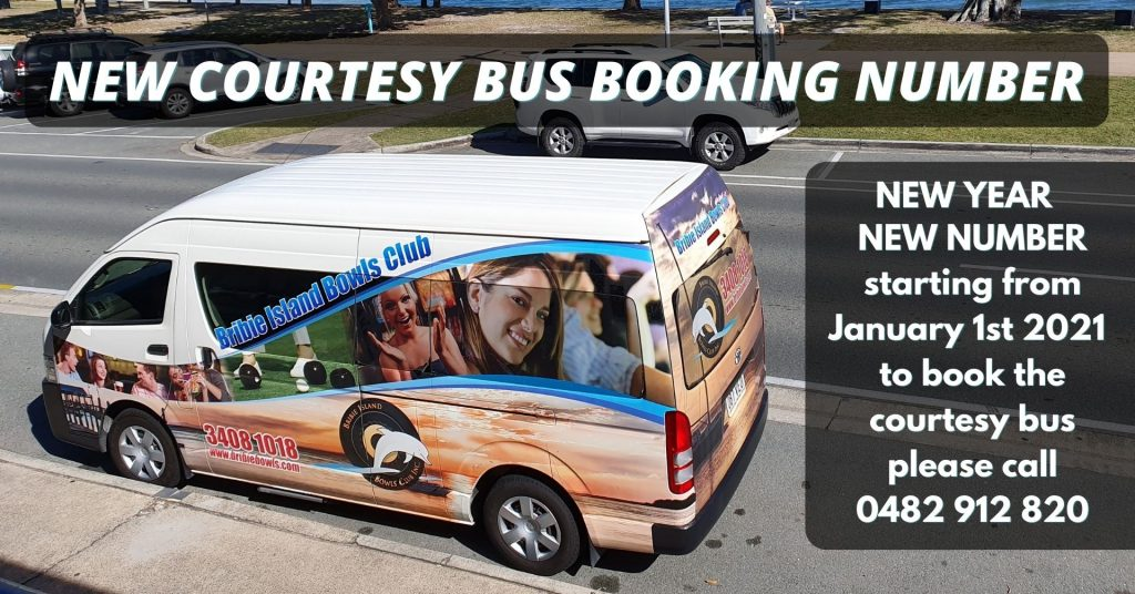 New courtesy bus booking number
