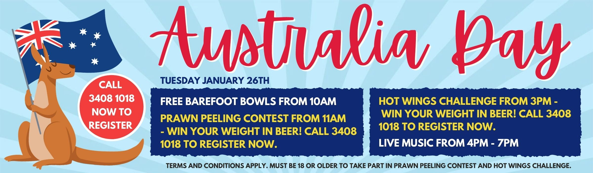 Australia Day at the Bowlo